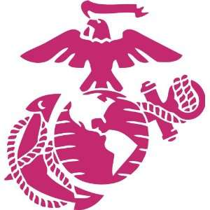 Marine Corps   Eagle Globe & Anchor PINK USMC Car Decal