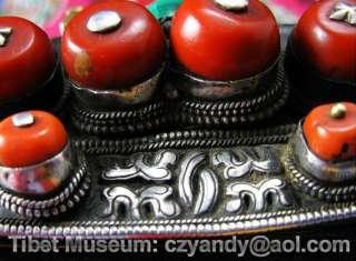 Wonderful Qing dynasty Amazing Old Antique Tibetan Noble Pure Slivered