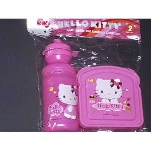 Hello Kitty 2 Piece Sport Bottle and Sandwich Container