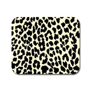 Leopard Print   Tan and Black Mousepad Mouse Pad