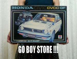 HONDA CIVIC CVCC GF 1/16 BIG MODEL KIT NITTO JAPAN |