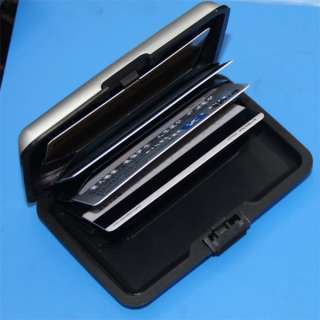 NEW Brand SILVER Aluminum Wallet Business ID Credit Card Holder Case