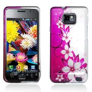 Hot Pink/ White Flower & Butterfly 2D Faceplate Hard