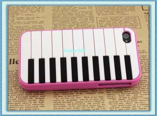 Piano Soft Rubber Silicone Back Case Cover Skin for Apple iphone 4G 4S