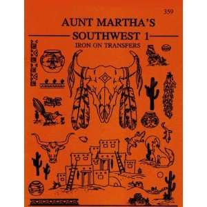 Aunt Martha Hot Iron Transfers for Embroidery Red Work