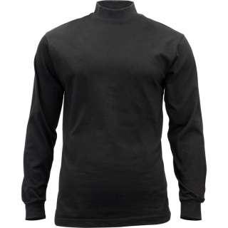 Security Law Enforcement Black Mock Turtleneck Work Shirt