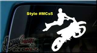 MOTOCROSS JUMPER VINYL DECAL STICKER DIRT BIKE TRAILER