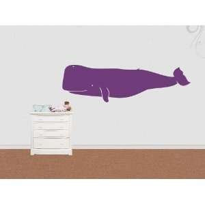 Wall Sticker Decal Pot Whale 200cm 2 meters