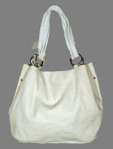 MAISON MARTIN MARGIELA LINE 11 Cream/Ivory Leather HOBO Shoulder BAG