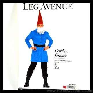 Mens 4 PC. GARDEN GNOME Dwarf Lawn Roaming Leg Avenue 83687 Adult