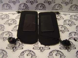 04 C5 Chevrolet Corvette Convertible OEM Black LH RH Sun Visors