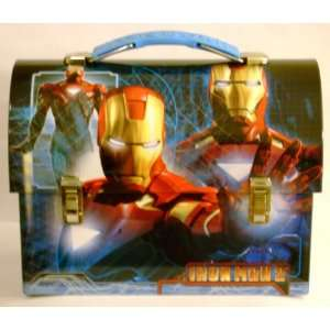 Collectible Iron Man 2 Tin Dome Lunch Box Carry All Tin