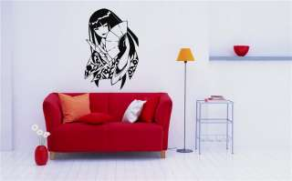 ANIME JAPANESE GIRL GEISHA MANGA WALL VINYL STICKER MURAL ART DECAL