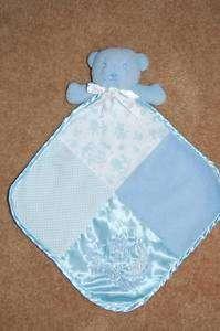 Baby NURSERY RHYME Blue Bear Security Blanket LOVEY
