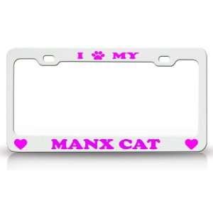 I PAW MY MANX Cat Pet Animal High Quality STEEL /METAL