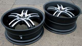 LORENZO WL026 22 BLACK RIMS WHEELS DODGE CHARGER V6 HEMI
