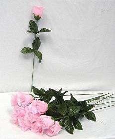 Single Long Stem Rose Buds SILK Wedding Bouquet Flowers PARTY DIY