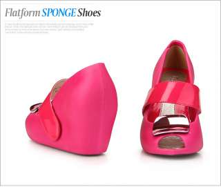 Cute Pink Wedge Heel Womens Jelly Shoes
