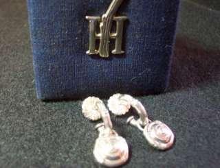 JOHN HARDY Sterling Silver Bamboo Hoop Pierced Earrings with Dangle