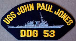 US Navy Cap Patch USS John Paul Jones DDG   53