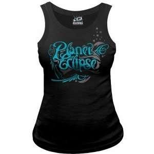 Planet Eclipse 2011 Womens Galaxy Vest Tank Top   Black