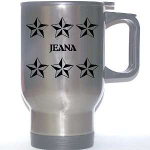 Personal Name Gift   JEANA Stainless Steel Mug (black