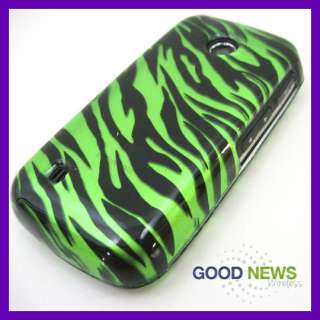 for Verizon LG Cosmos Touch VN270   Green Zebra Hard Case Phone Cover