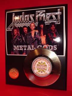 JUDAS PRIEST 24k Gold Record Metal Gift Limited Edition