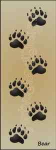 Tracks Paw Print Border Cabin Lodge Rustic Signs U Paint Wall Art