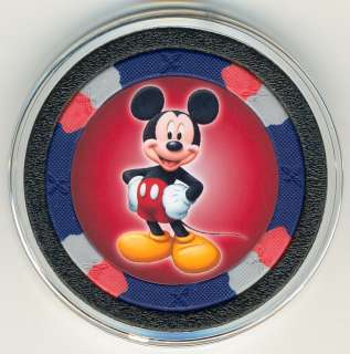 SET OF 6 Mickey Mouse & Friends Poker Chip Card Guard