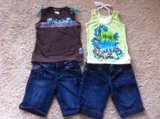 HUGE 28 Piece LOT GIRLS SPRING / SUMMER CLOTHES size 7/8 GUESS Old