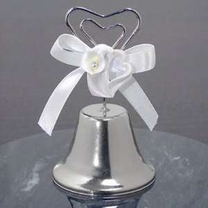 Calla Lily Heart Wedding Bell Place Card Holder  Kitchen