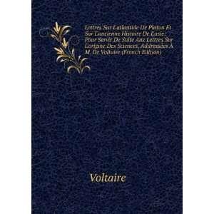 Lettres Sur Latlantide De Platon Et Sur Lancienne