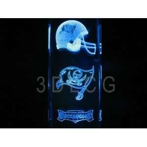 NFL Tampa Bay Buccaneers 3D Laser Etched Crystal 6 Inch