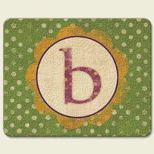 Fun Monogram B 10 x 8 inch Tempered Glass Cutting Board