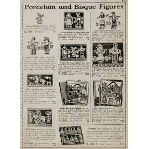 1934 Ad Vintage Porcelain Bisque Dolls Dutch Boy Girl