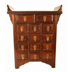 Vintage Oriental Style Small Wooden Cabinet
