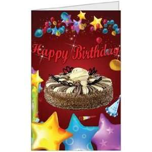Birthday Boy Girl Cake Niece Nephew Son Greeting Card (5x7