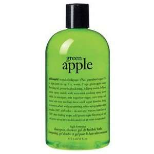 green apple   high foaming shampoo, shower gel and bubble bath Beauty