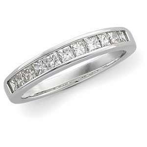 14K White Gold Diamond Anniversary Band Ring DivaDiamonds