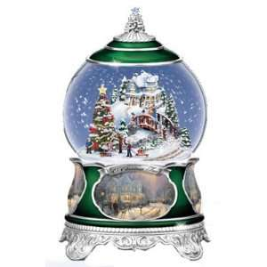 Bradford Exchange Thomas Kinkade O Christmas Tree Musical Snow Globe