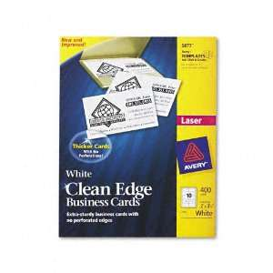 Avery® Clean Edge Laser Business Cards, 2 x 3 1/2, White