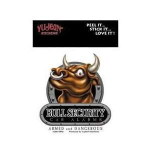 Mindfull Designs   Bull Security Car Alarms   Mini Car Alarm Sticker