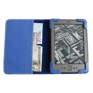 com BLUE mCover® Leather Folio Cover Case with built in inner pocket