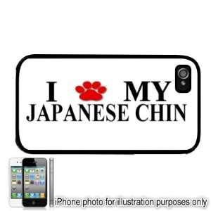 Japanese Chin Paw Love Dog Apple iPhone 4 4S Case Cover