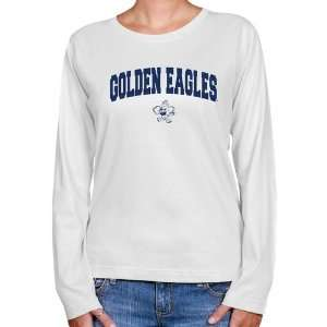 NCAA Oral Roberts Golden Eagles Ladies White Logo Arch Long Sleeve