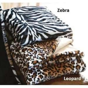 Safari Zebra or Leopard Print Throw