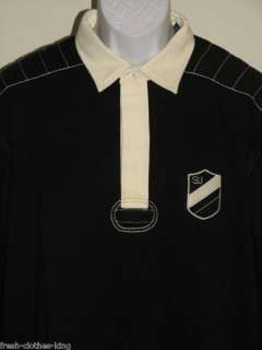 SEAN JOHN New Mens $68 Black Rugby Polo Shirt Choose Sz |
