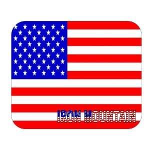 US Flag   Iron Mountain, Michigan (MI) Mouse Pad