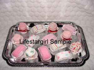 BABY WASHCLOTH Petits Fours Super Cute Baby Shower Favor/Decorations
